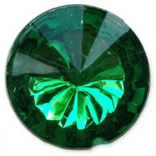 14mm EMERALD GREEN Round Acrylic Embellishment Gems